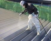 神栖市 屋根吹き付け塗装